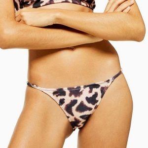 Topshop 10 Giraffe Tanga Bikini Swimsuit Bottoms